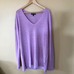 Banana Republic Merino Wool purple sweater large